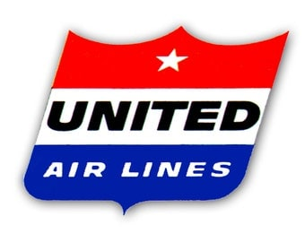 United Airlines Old Logo Fridge Magnet (LM14152)