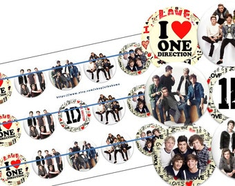 ONE DIRECTION bottlecap image ready to print bottle cap