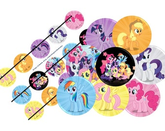 My little pony  printable  bottle cap images 1 inch