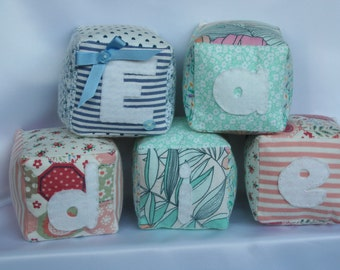 Personalised soft name cubes