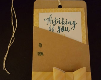 Thinking of You and Thank You tag and card combo