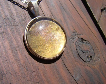 Solar | Hand-Painted Galaxy Pendant Necklace