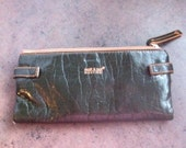 Vintage Womens Wallet - Matt and Nat of Montreal - Vegan Leather - Forest Green with Tan Trim - Clutch Purse for Her