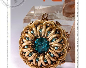 Dirico beaded pendant PDF pattern