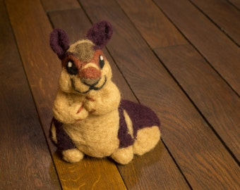 Indian Giant Squirrel, Needle Felted Soft Sculpture