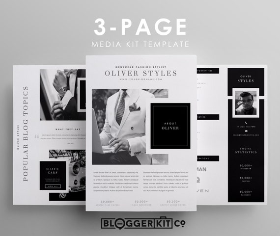 digital press kit template free three page media kit template press kit template by