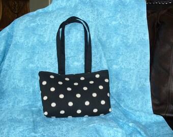 Handbag, Shoulder Bag, Purse, Tote, Black Bag, Polka Dot Bag