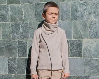 Boys turtleneck sweater/Toddler boys high collar sweater/Kids polo wool sweater/Boys sweater/Boys jumper/Cowl neck/Wool jumper sweater