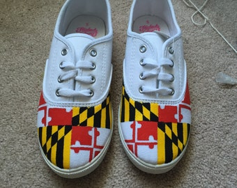 Maryland Flag Shoes