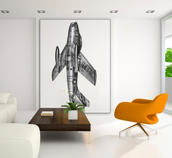 F-86 Fighter Aircraft Extra Large Wall Art Military Air