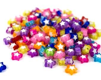 125 Electric Stars Kandi Beads