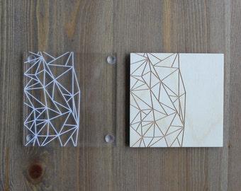 Geometric Etched Coaster