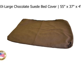 """XXL Chocolate Suede Bed Cover  