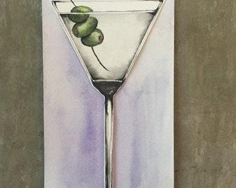 Cheers: Watercolor Martini Painting