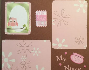 "Niece 12x12"" Premade Scrapbook Page"