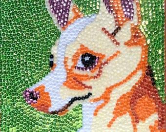 Sequin Pet Portrait Custom Made for Your Pet