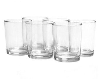 "2.5""  Clear Glass Candle Holders, Glass Votive Candle Holders, Wedding Decor, Candle Centerpiece, Votive Glass Holders, Tealight, 12-Pack"