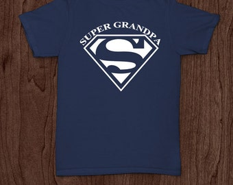 Super grandpa funny t-shirt tee shirt tshirt Christmas dad father dad family fun father's day humor grandfather grandpa grandad fun family