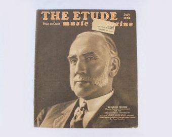 The Etude Music Magazine, July 1948 Volume LXVI, No. 7, Vintage Music Publication