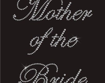 Bridal Hen Party Rhinestones Iron On Transfer