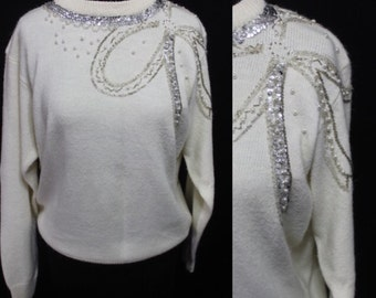 White Alfred Dunner Sweater