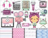 80%OFF - Video Clipart, Video Graphics, COMMERCIAL USE, Video Stuff, Planner Accessories, Video Supplies, Editing Clipart, Movie