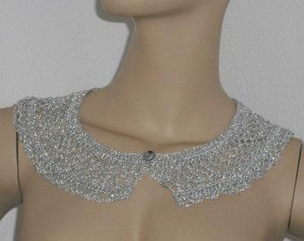 Fine crochet collar – collar - lace - collars - crochet