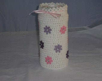 Vase - crochet - crochet - home decor - flower vase - flowers