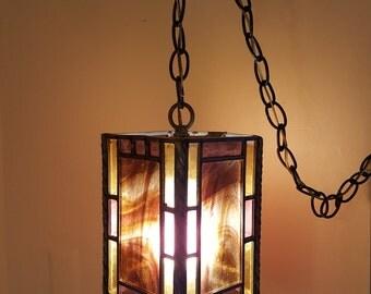 Vintage Handmade Hanging Lamp 1950's