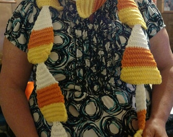 Crocheted Candy Corn Scarf