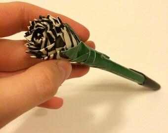 Zebra Duck Tape Flower