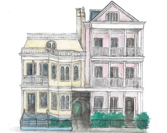 Charleston Houses Print 8x10 in