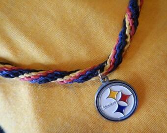 Pittsburgh Steelers,Pittsburgh Steelers Necklace,Hemp Necklace,Steelers Colors,NFL Necklace,Football Jewelry,Steelers Jewelry,Hemp