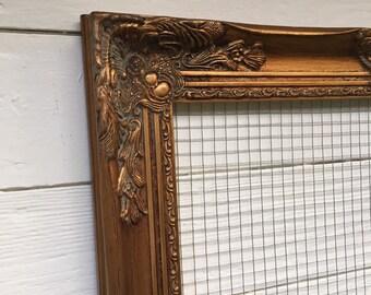 Chicken Wire Memo Board, Wire Frame Craft Organizer