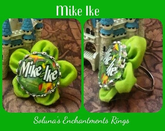 "Enchanted Fabric Flower Ring ""MikeIke"" any Size"
