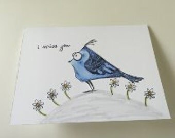 Miss You Card / Bird Card / Missing You