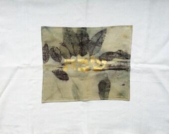 Handmade challah cover for shabbat and yom tov, eco printed home decor, challe, challa