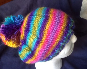 One of a Kind slouch Hat with PomPom - Adult