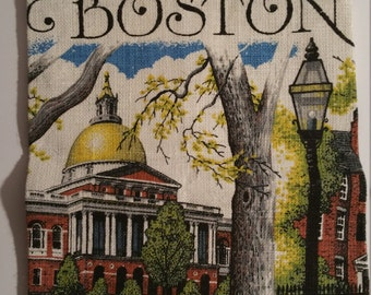 City of Boston linen dish towel