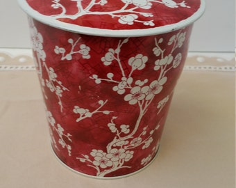 Pretty Red and White Vintage Tin Made In England