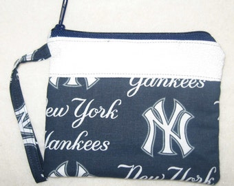New York Yankees NY Custom made Wristlet MLB Embroidered