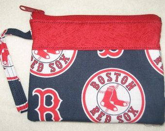 MLB Boston Red Soxs Wristlet Custom Made Embroidered