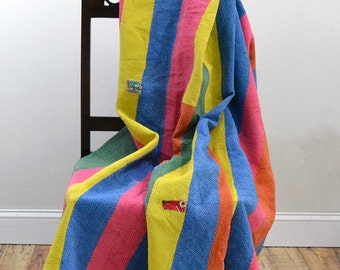 Reversible Vintage Kantha Sari Throw from India - Fine Stitching - Antique Kantha Quilt, Vintage Quilt, Reversible Quilt, Kantha Throw