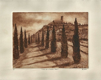 View of a Tuscan Town