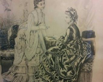 La Mode Illustree French Fashion print 1800s