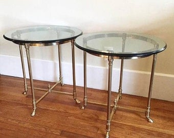 La Barge Brass Occasional Tables (a pair)