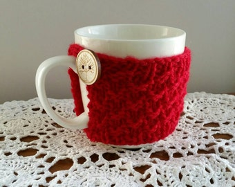Knitted Mug Cosy, Cozy, Cup Cosy, Coffee Cosy, Home Decor.