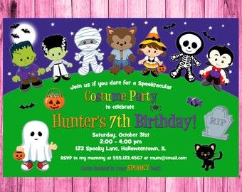 Halloween Invite, Halloween Invitation Printable, Costume Party Invitation, Halloween Invitation Kids. Halloween Invitation, Printable