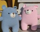 Amigurumi Pattern, Handmade, PDF, Digital file, Doll, Crochet, PDF Pattern, Crochet Pattern, Bear, Pink, Blue