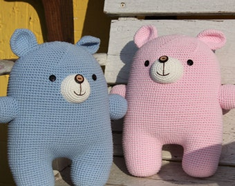 Amigurumi Pattern, Handmade, PDF, Digital file, Doll, Crochet, PDF Pattern, Crochet Pattern, GoMi the Bear Cushion